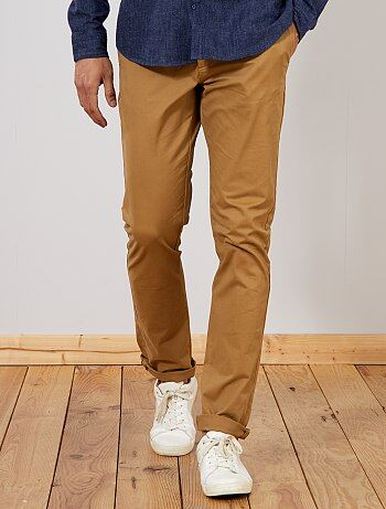 Pantalon chino slim stretch L36 +1m90 - Kiabi