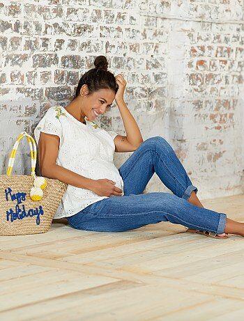 Pantalon denim de maternité - Kiabi