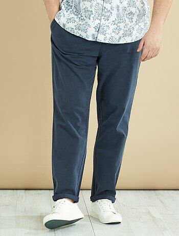 Pantalon en coton et lin - Kiabi