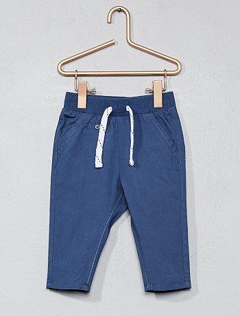 Pantalon en popeline pur coton - Kiabi