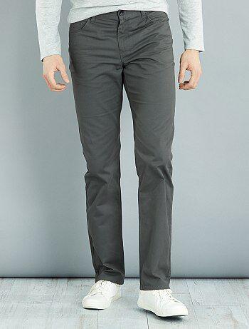 Homme du S au XXL - Pantalon regular en twill L36 +1m90 - Kiabi