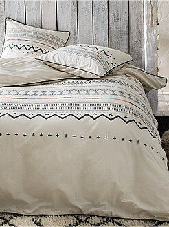 Parure de lit 2 personnes en coton - Kiabi