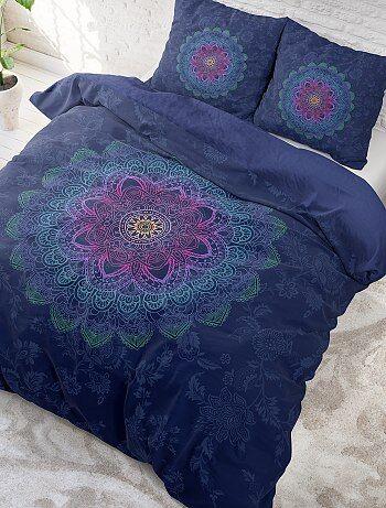Parure de lit 2 personnes imprimé 'mandalas' - Kiabi