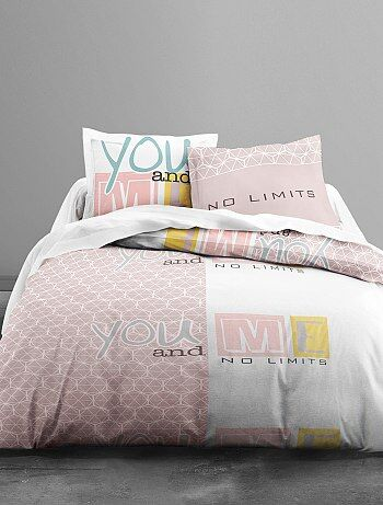 Parure de lit imprimé 'you and me' - Kiabi
