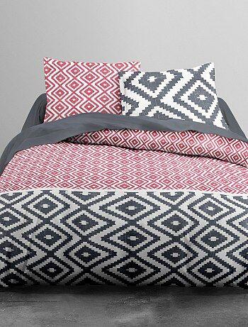 Parure de lit motifs géométriques - Kiabi