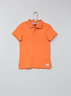 Tee shirt, polo rose - Polo en coton piqué - Kiabi