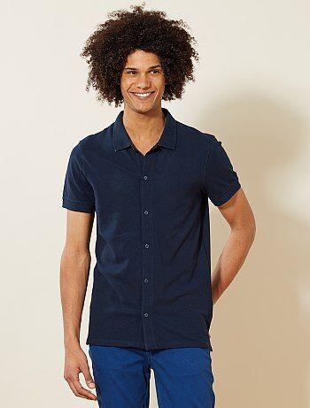 Polo van piquétricot in overhemdstijl - Kiabi