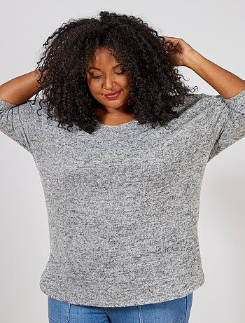 Pull loose maille chinée - Kiabi