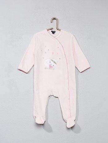 Pyjama en velours imprimé chat - Kiabi