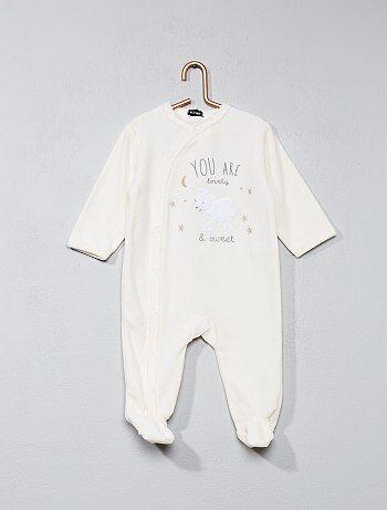 Pyjama en velours imprimé 'mouton' - Kiabi