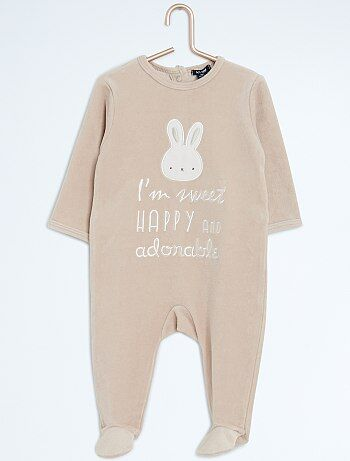 Pyjama en velours 'lapin' - Kiabi