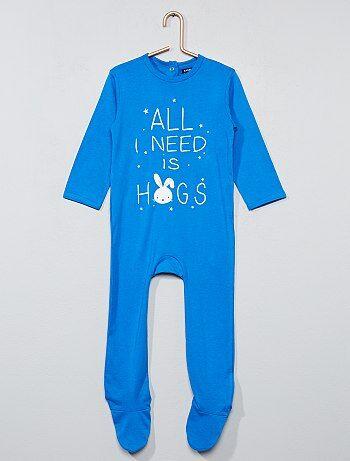 Pyjama imprimé avec pieds - Kiabi
