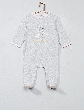 Pyjama imprimé 'Miss Bunny' - Kiabi