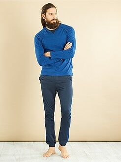 Homme du S au XXL - Pyjama long en jersey pur coton - Kiabi