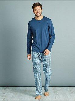 Homme du S au XXL - Pyjama long en pur coton - Kiabi