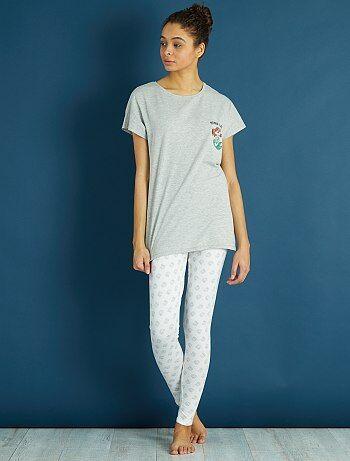 Pyjama long 'La Petite Sirène' - Kiabi