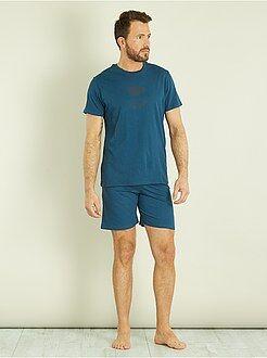 Homme du S au XXL - Pyjama short en coton - Kiabi