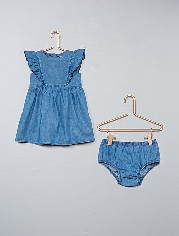 Robe en denim + culotte assortie - Kiabi