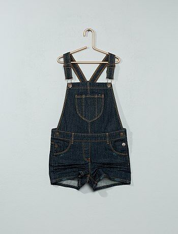 Salopette short en denim - Kiabi