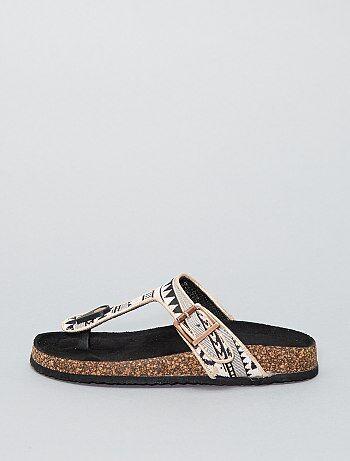 Sandales à broderies - Kiabi