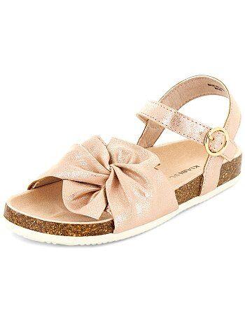 Sandales en simili pailleté - Kiabi
