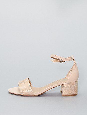 Sandales irisées à talons - Kiabi
