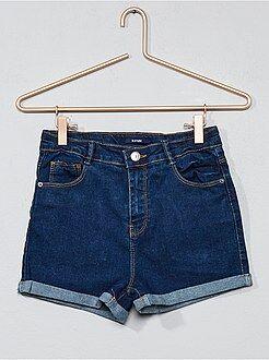 Short, pantacourt - Short denim taille haute - Kiabi