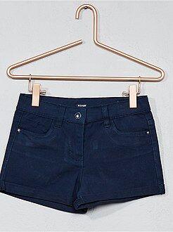 Short, pantacourt - Short en coton stretch - Kiabi