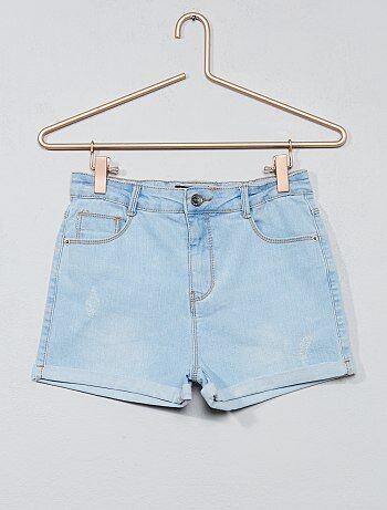 Short en jean délavé - Kiabi