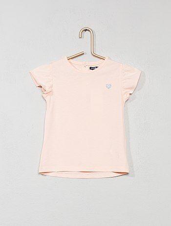 T-shirt coeur brillant - Kiabi