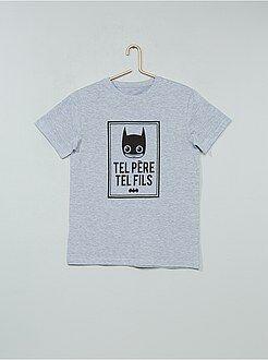 Tee shirt, polo blanc - T-shirt imprimé 'Batman' - Kiabi