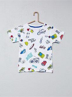 Tee shirt, polo taille 7/8a - T-shirt imprimé fantaisie - Kiabi