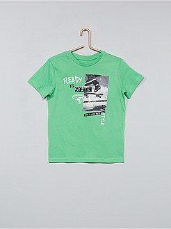 Tee shirt, polo taille 12a - T-shirt imprimé skate - Kiabi