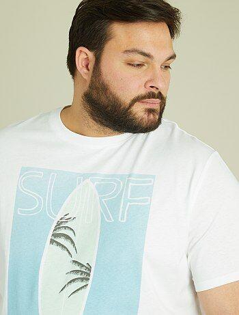 T-shirt jersey imprimé tropical - Kiabi