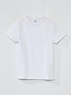 Tee shirt, polo blanc - T-shirt pur coton - Kiabi