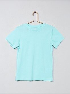 Tee shirt, polo bleu - T-shirt pur coton - Kiabi