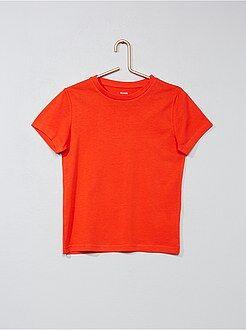 Tee shirt, polo rouge - T-shirt pur coton - Kiabi