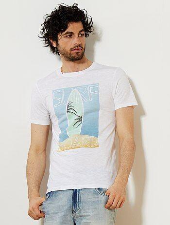 Homme du S au XXL - T-shirt regular imprimé fantaisie - Kiabi