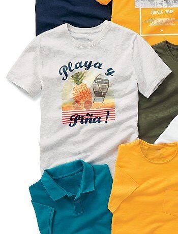T-shirt regular imprimé 'playa' - Kiabi