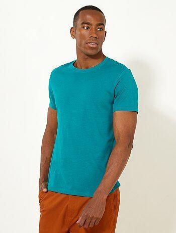 Homme du S au XXL - T-shirt regular uni en jersey - Kiabi