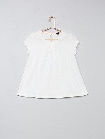 T-shirt uni avec plis - Kiabi