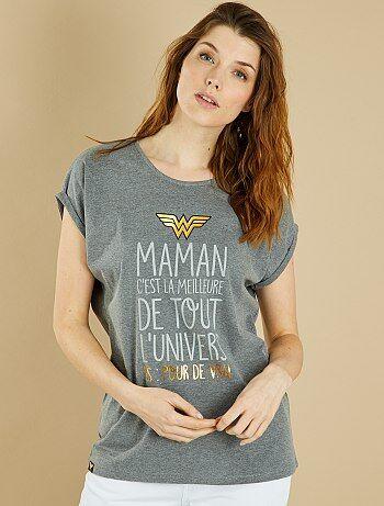 T-shirt 'Wonder Maman' - Kiabi
