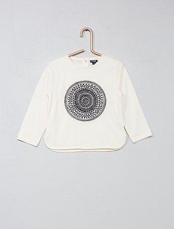 Tee-shirt à manches longues 'attrape-rêve' - Kiabi