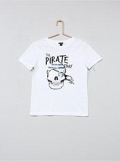 Garçon 3-12 ans - Tee-shirt coton avec sequins réversibles - Kiabi