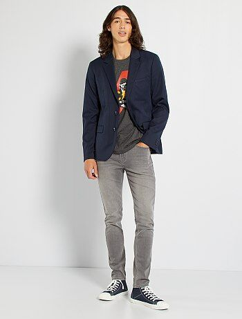 Veste de costume regular en twill - Kiabi