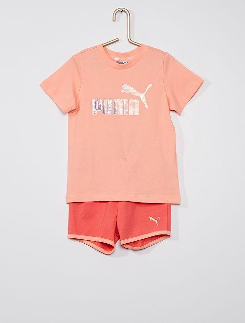 2-delige set T-shirt + short 'PUMA' -                             BIEGE