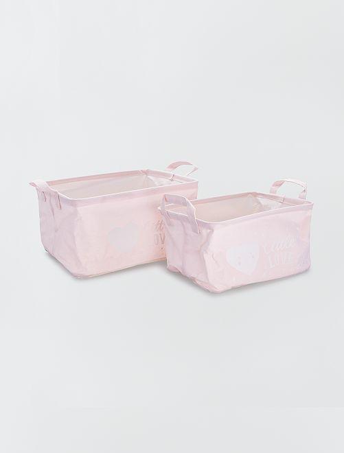 2 opbergmanden                                                     roze