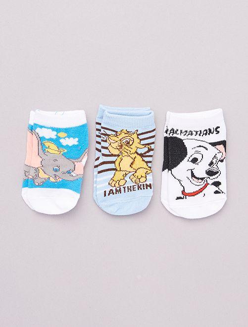 3 paar sokken met 'Disney'-helden                             BLAUW