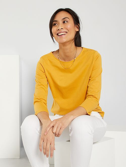 Basic T-shirt 'Ecodesign'                                                                                                                             GEEL