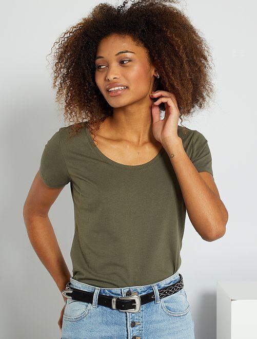 Basic T-shirt 'Ecodesign'                                                                                                                 KAKI